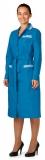 Халат женский цветной (длинный рукав, бирюзовый)