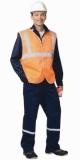 Жилет сигнальный универсальный Габарит-В с 3 светоотражающими полосами (ткань Оксфорд) оранж