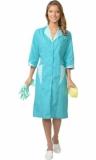 Халат Марлен женский бирюзовый со светло-бирюзовым