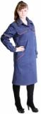 Халат Профи-2 женский темно-синий с оранжевым, ткань Саржа (210г/м, 100% х/б)