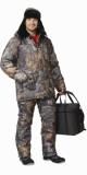 Костюм Рыболов зимний: куртка, полукомбинезон камуфлированный Темный лес