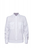 Рубашка полиции с длинным рукавом нового образца белая