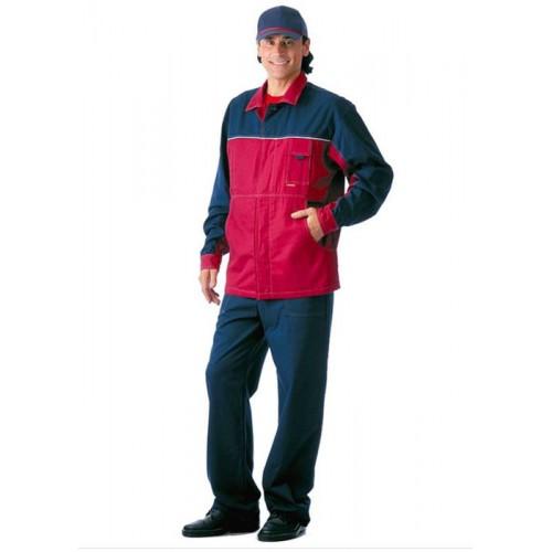 Костюм Смена: куртка, полукомбинезон синий с бордо