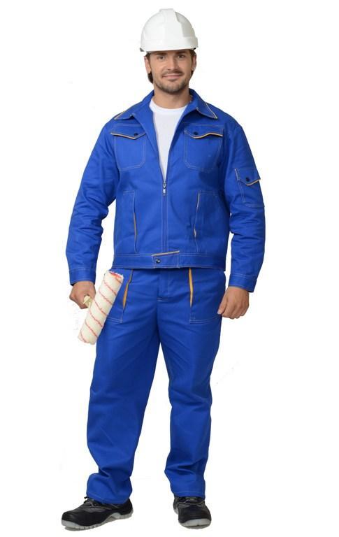 Костюм Универсал: куртка, брюки васильковый с желтым кантом