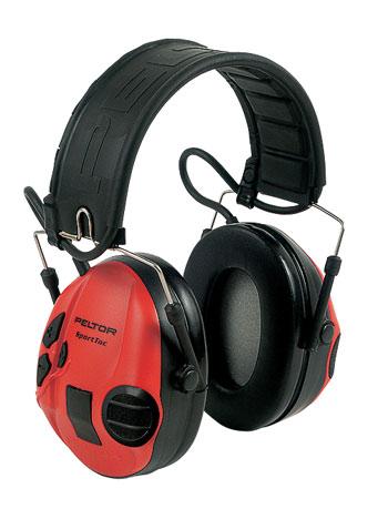 Наушники SportTac со складным оголовьем (MT16H210F-478-RD) красные/черные