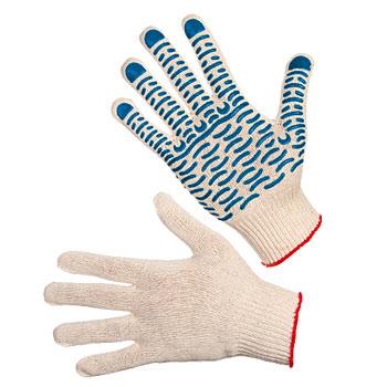 Перчатки трикотажные х/б с точечным ПВХ-покрытием «Волна» (10 класс)