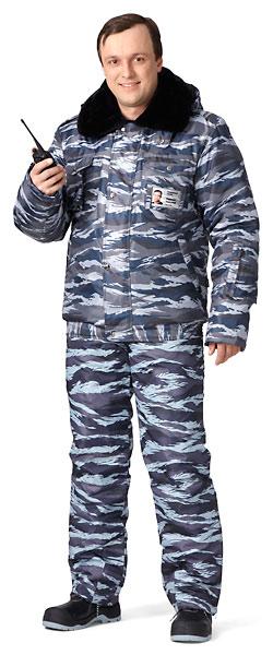 Куртка мужская утепленная «Секьюрити» (камуфлированная)