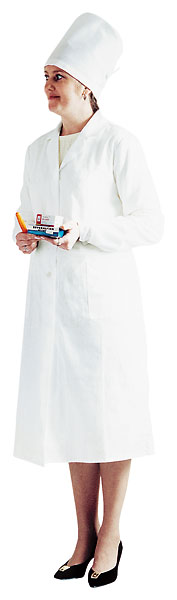 Халат женский белый из ткани «Бязь»