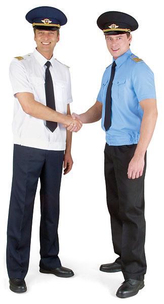 Куртка-сорочка голубая, короткий рукав