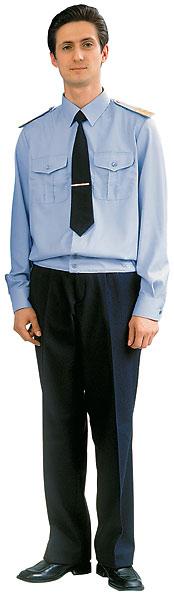 Куртка-сорочка голубая, длинный рукав