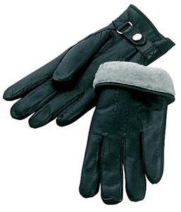 Перчатки кожаные с подкладкой из натуральной шерсти