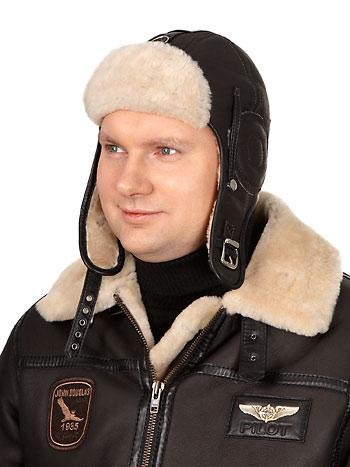 Шлем кожаный меховой «Джон Дуглас»