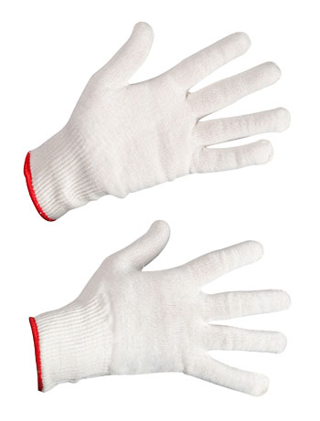 Перчатки трикотажные х/б + п/э (13 класс)