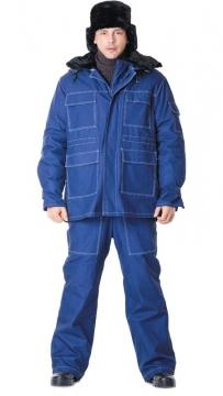 Костюм Альпак: куртка длинная, брюки синий