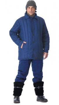 Куртка утеплённая (диагональ, 2,6 кг ваты) тёмно-синяя