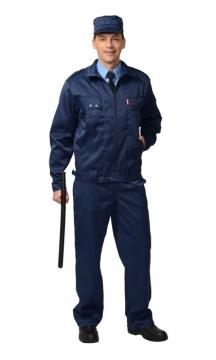 Костюм Охранник летний: куртка, брюки синий