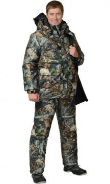 Костюм Снайпер: куртка длинная, полукомбинезон камуфляж Тёмный Лес
