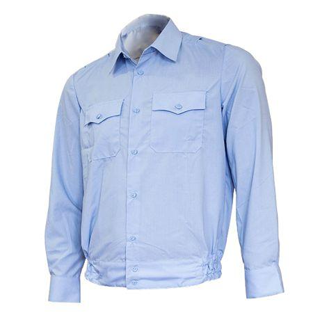Рубашка полиции с длинным рукавом нового образца голубая