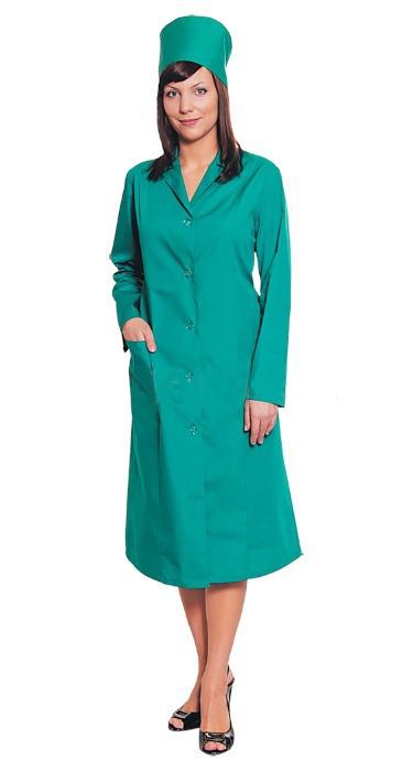 Медицинский халат Татьяна зеленый